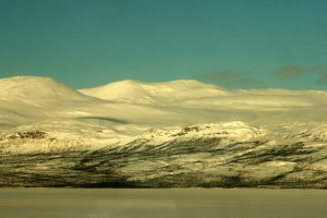 {de}Schnee und Eis in Lappland{en}Snow and ice at Lapland